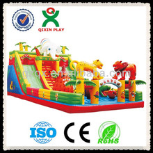 2014 hot sale giant inflatable slides/inflatable castle slides/inflatable water slides QX-111A