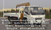 truck with loading crane, truck mounted crane, foton truck with crane