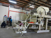 1575mm rice straw recycling machine to make toilet tissue paper