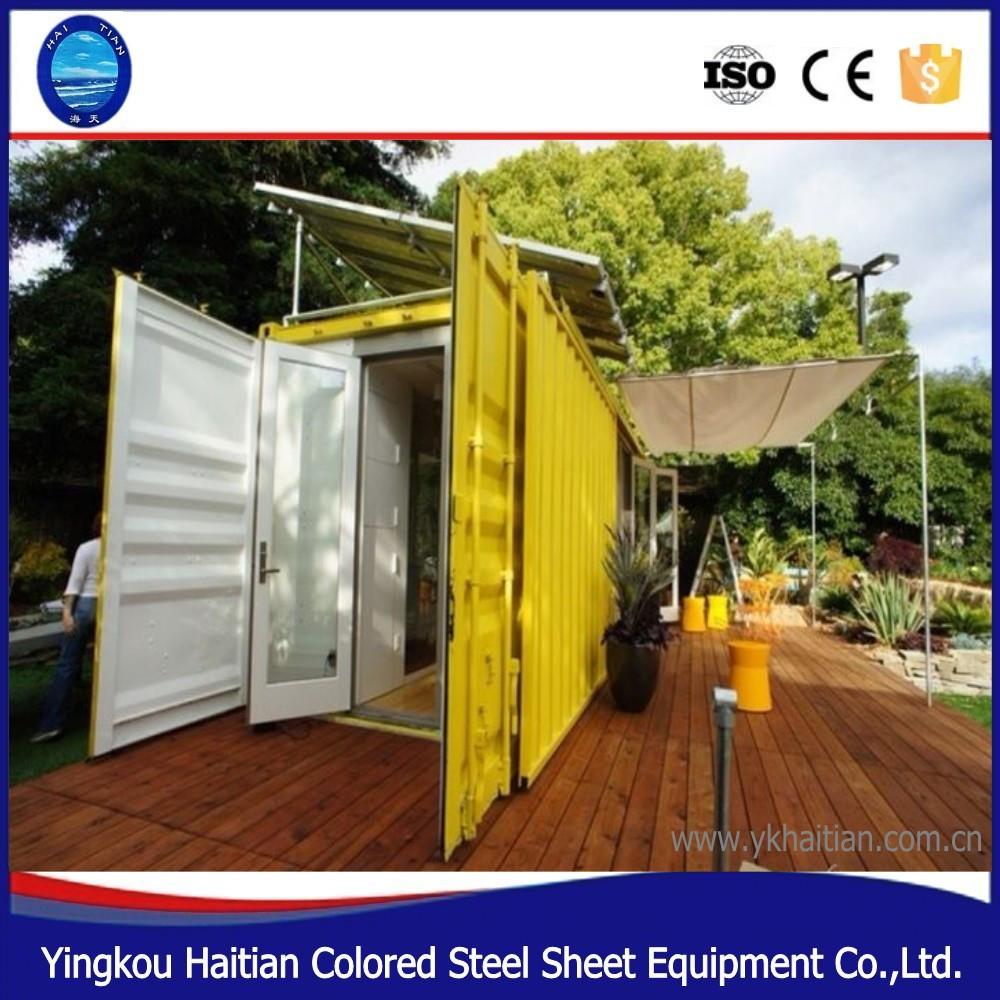 20ft personalizaci n modular vida prefabricada casa contenedor de acero dise o precios de casas - Casas de acero precios ...