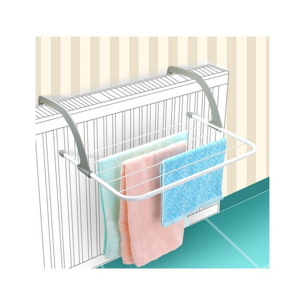 3M Towel Rack Radiator Clothes Dryer Laundry 5 Rail Bar Washing Bathroom