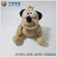 promotional plush stuffed animal toys dog for gift in christmas day, CE/ASTM safety stardard