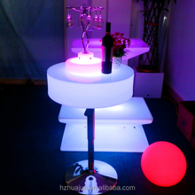 Outdoor high top folding LED light bar tables