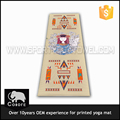 6MM 61*173CM, 1100 g/pcs Eco, full color silk screen printing yoga mats