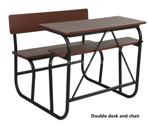 Top Board Double Seats Combo School Student Desk and Chair