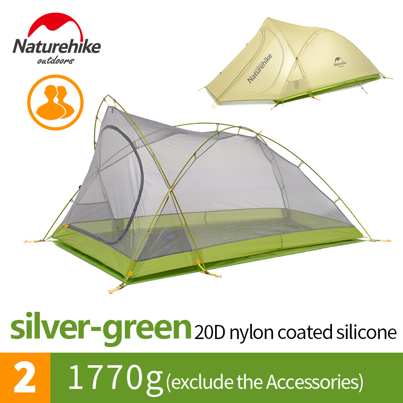 Naturehike cirrus 2 man ultralight waterproof wind resistant outdoor luxury camping &glamping tent for tailer