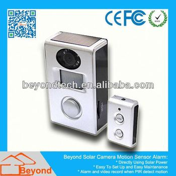 Security Systems For Automobiles Solar Camera Alarm With Video Record and Solar Panel
