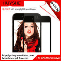 HUYSHE 2.5d upscale full cover tempered glass screen protector for iphone6 with acrylic panel