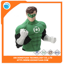 Customized Green Lantern Novelty Bust Bank Vinyl Coin Bank