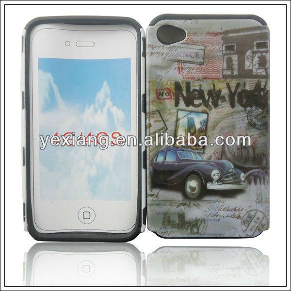 The latest product light up case, sublimation for iphone 4 case