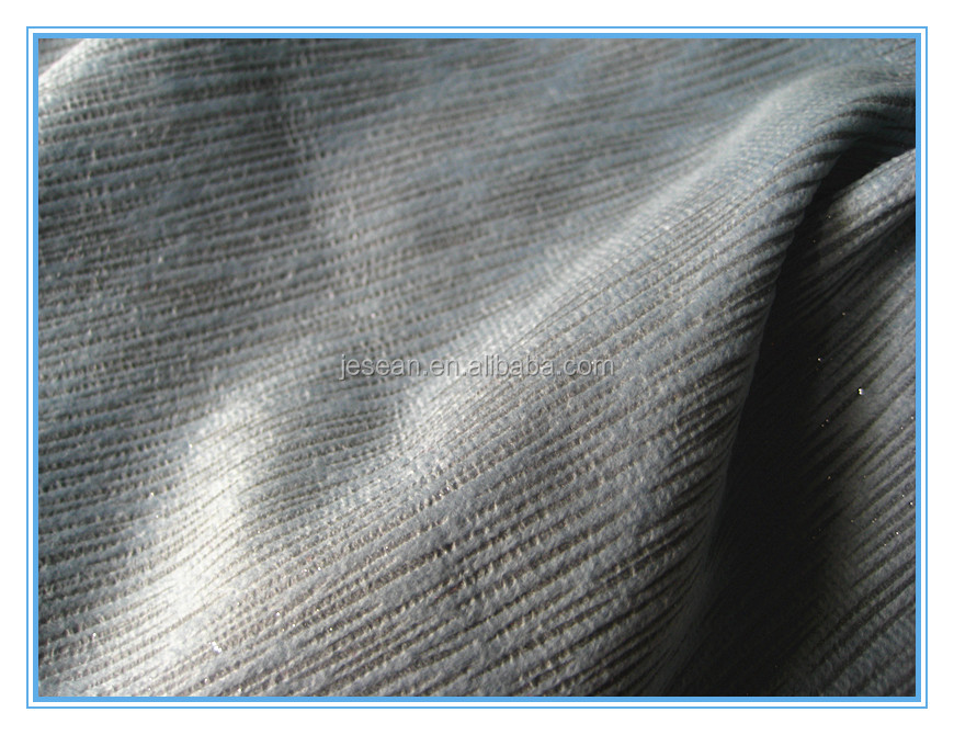 100%polyster Warp Knitted Embossing Silver Sofa Fabric