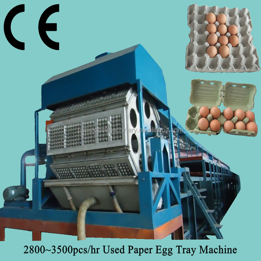 Automatic rotary egg tray making/chicken farm machine/fruit tray production line