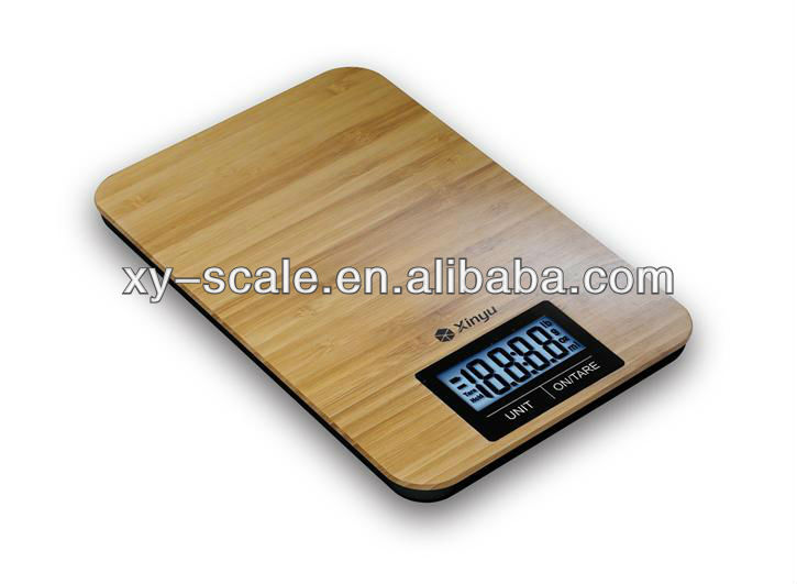 Ultra slim electronic Kitchen Scale bamboo scale