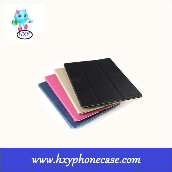 Flexible smart leather Case for ipad 2/3