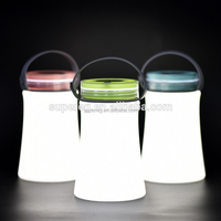 Travel Tent Camping Lamp LED Night Light Silicone Storage Compass Waterproof Portable USB Garden Hanging Lamps