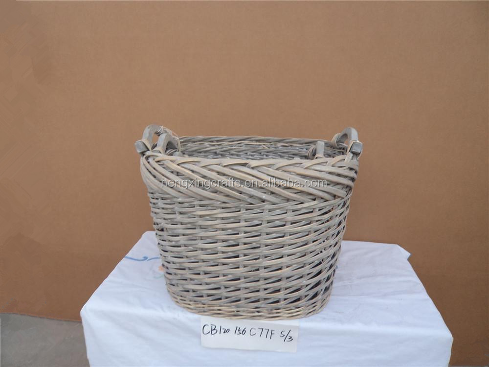 Hot Sell Cheap Wicker Laundry Basket With Handle