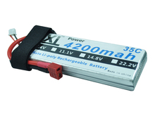 XXL 35C 2S high discharge rate lipo battery 4200mah 7.4V for RC hobby