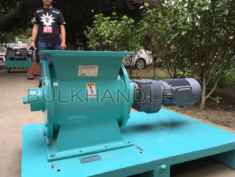 Discharge for grain & flour mill machine