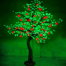Colorful decoration LED light artificial apple tree