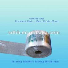 Printing Pof Shrink Wrapping Film for Tableware
