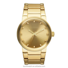 Fashion style new arrivals custom logo gold plated stainless steel men watches luxury