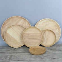 Refined-bam wholesale Eco-friendly Natural Wooden/Bamboo Dinner Fruit Food Tray <strong>Plates</strong> Serving Tray Set