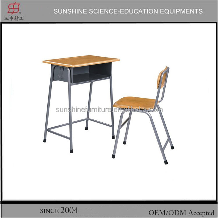 School furniture single standard classroom desk and chair