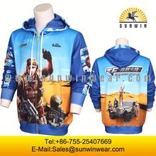 mens latest fastion full sublimation printing custom embroidered sweaters