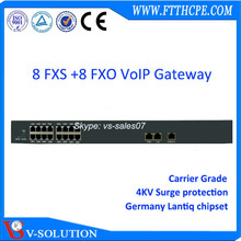 V-Solution Layer 3 SIP telephone 8fxo 8fxs voip gateway