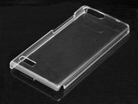 factory price durable transparent crystal pc phone case for huawei ascend P7 mini
