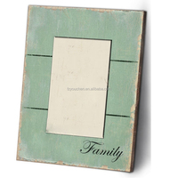 Antique light green simple out looking wood photo frame