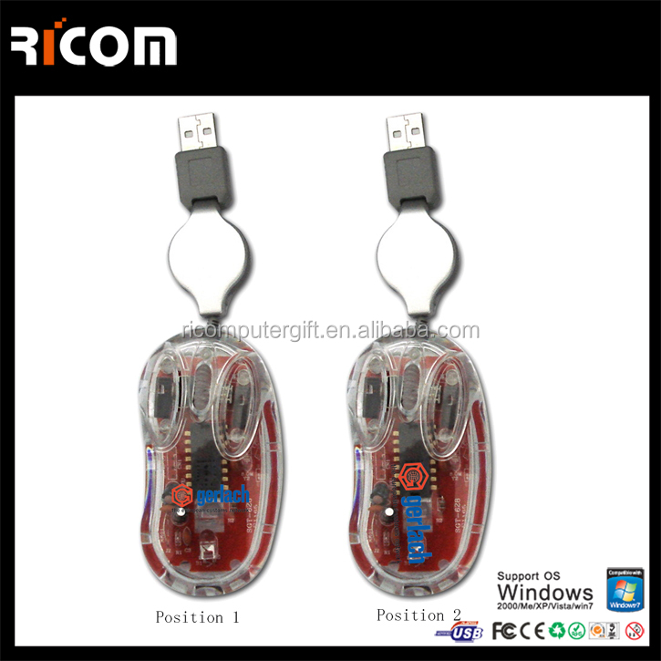 Transparent types of computer mouse,3d mouse,graphic design mouse--MS3019-Shenzhen Ricom
