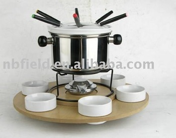 HG-002 25pcs fondue set,cheese fondue set