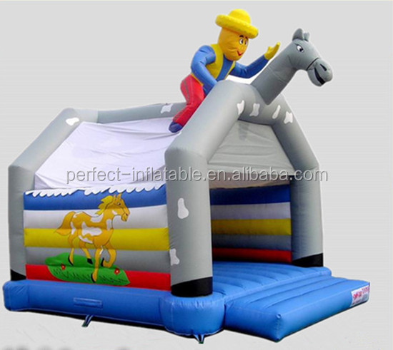 Happy wrangler inflatable farm bounce house for playground equipment on sale