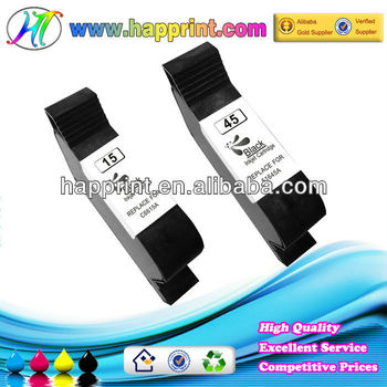 Top quality low price for remanufactured ink cartridge for HP 15 45 C6615A 51645A