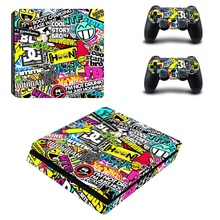 Hot sale fashion customized protecting void skin sticker for ps4 slim