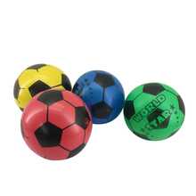 Customize logo cheap promotion promotional beach rubber world cup 6 inch inflatable pvc soccer ball