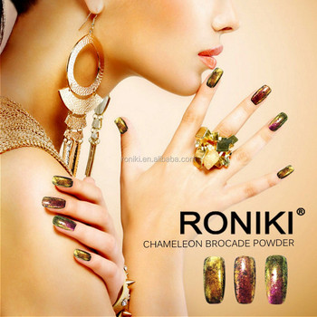 RONIKI wholesale color changing pigments ,chameleon flakes for cosmetic nail art