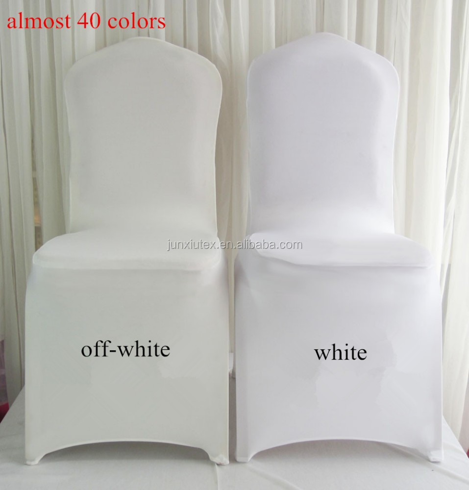 white cheap universal spandex lycra stretch elastic chair cover for