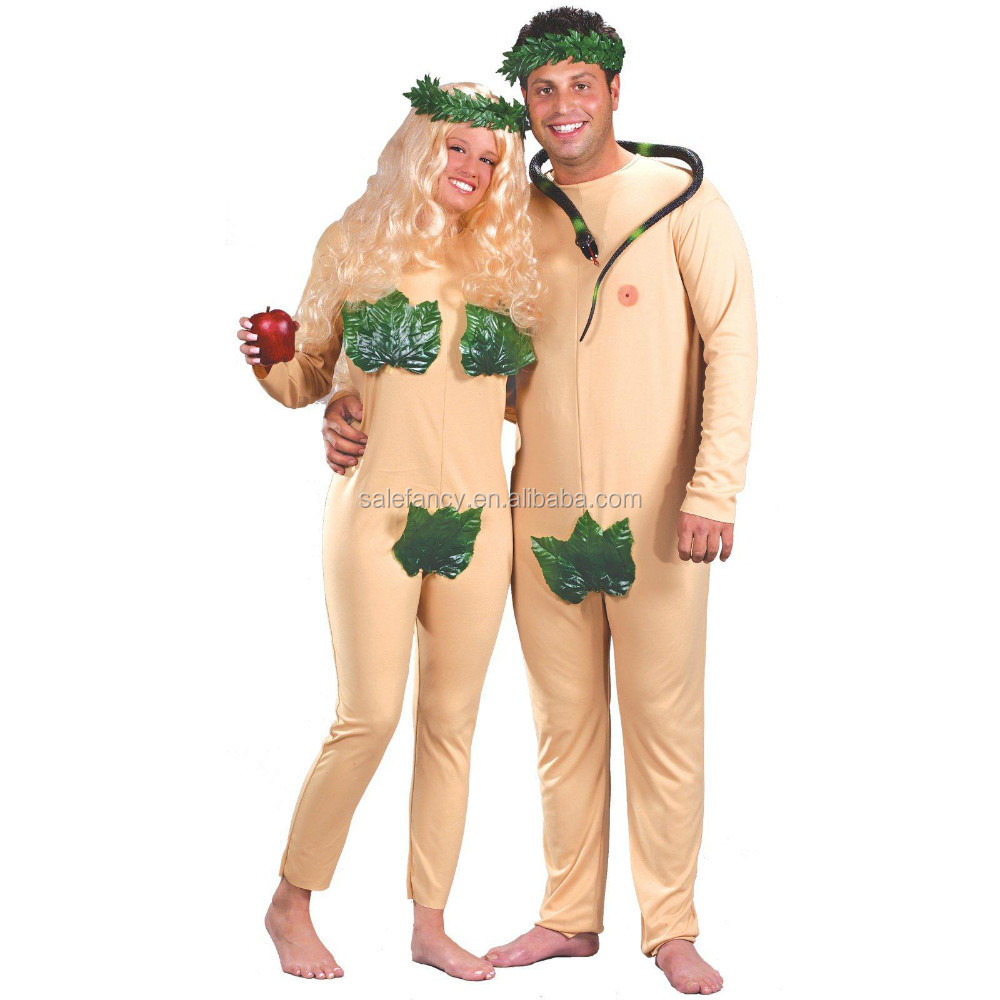 Adam Eve Adult Costume carnival costume cheap for couples QAWC-1066