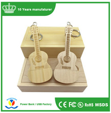 2017 New Design Guitar Wood USB Pendrive/ 2gb 4gb 8gb Wooden Memory Stick