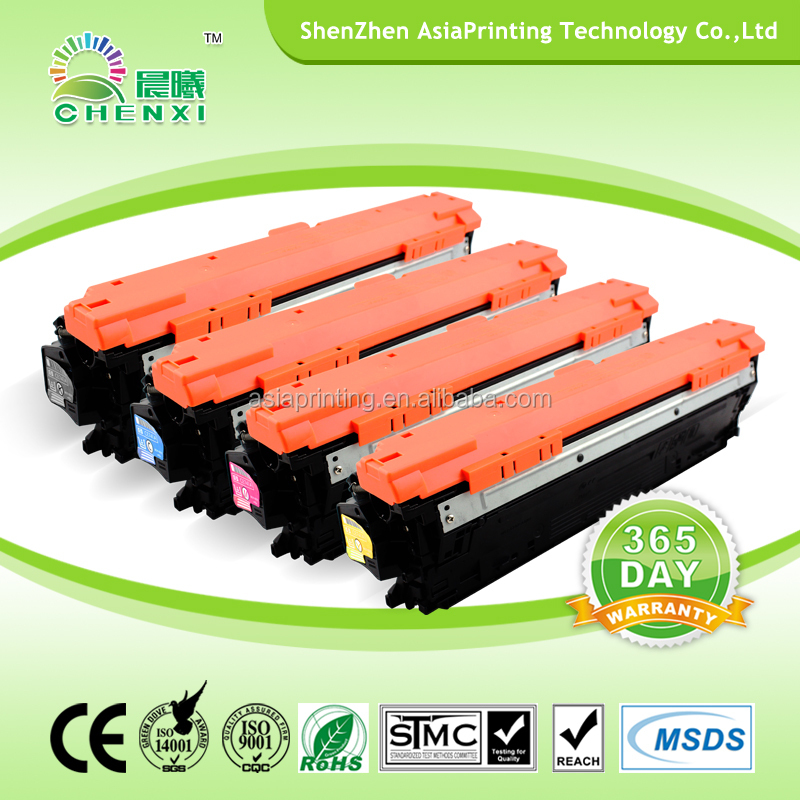 307A/CE740A/CE741A/CE742A/CE743A China best quality compatible color laser toner for hp CP5225 from Shenzhen China