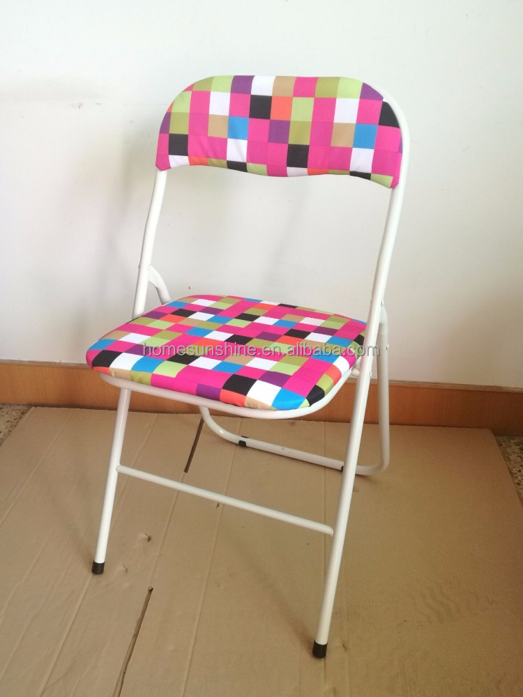 good quality metal folding chair with oxford fabric buy