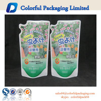 Laundry plastic bag resealable stand up powder pouch plastic washing powder packaging
