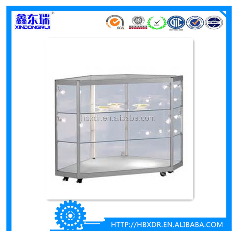 China OEM aluminum factory high quality aluminum frames profile for aluminium corner display counter cabinet