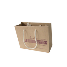Custom promotional handle kraft paper bag china of raw materials with logo print