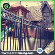 Decorational Flat Top Metal Fence Panel