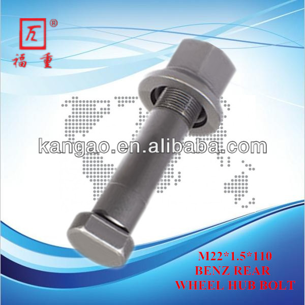 Auto spare parts truck wheel bolt for Benz ,Mercedes Benz Rear Wheel Bolt,10.9 Benz Rear Wheel Bolt