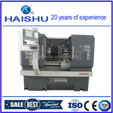 The automatic motorcyle and car wheel repair cnc lathe from haishu CK6160A