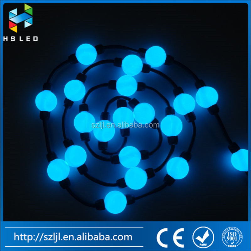 35mm full color programmable WS2811 3D lighting ball for landscape outlines